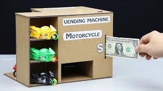 Video How to Make Vending Machine with Toy Motorcycle download MP3, 3GP, MP4, WEBM, AVI, FLV Juni 2018