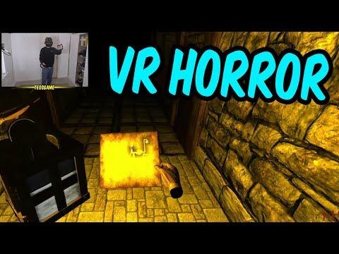 Teo plays a VR Horror Game (Dreadhalls)
