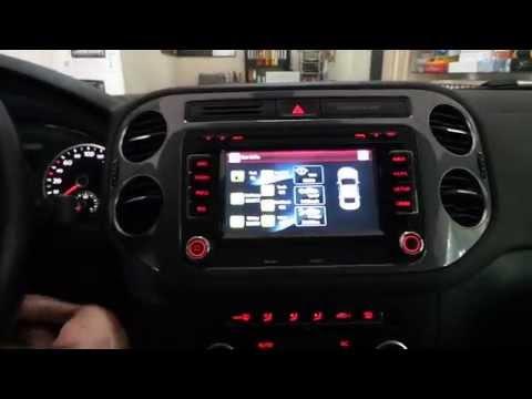 Volkswagen tiguan oem multimedya dvd tv usb navigasyon uygulaması