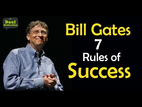 Bill Gates 7 Rules of Success | Microsoft Founder | Entrepre