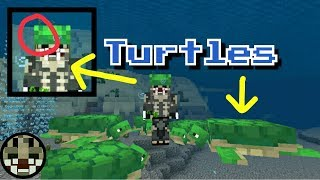 SEA TURTLES || Update Aquatic || Minecraft PE 1.5.0.4