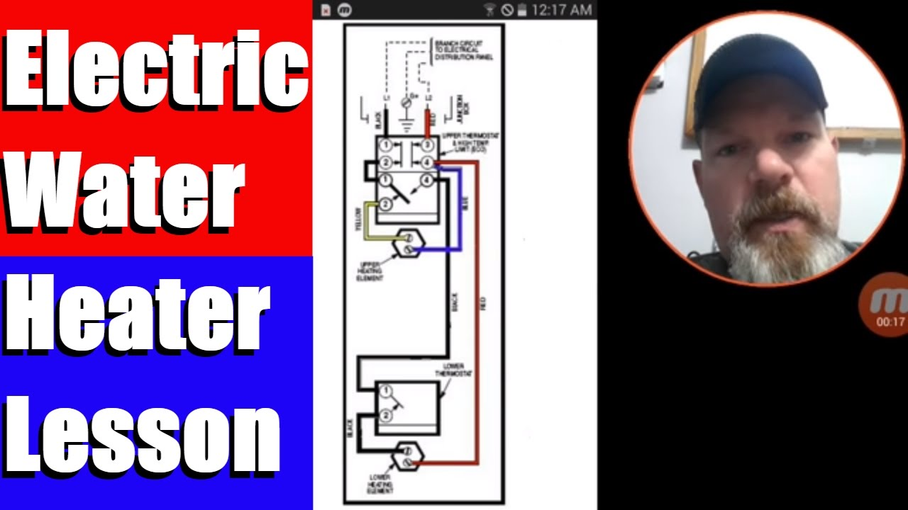 Electric Water Heater Lesson Wiring Schematic And Operation YouTube - Water heater wiring diagram