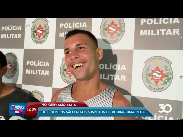 Dois homens são presos suspeitos de roubar uma moto no Gervásio Maia- O Povo na TV
