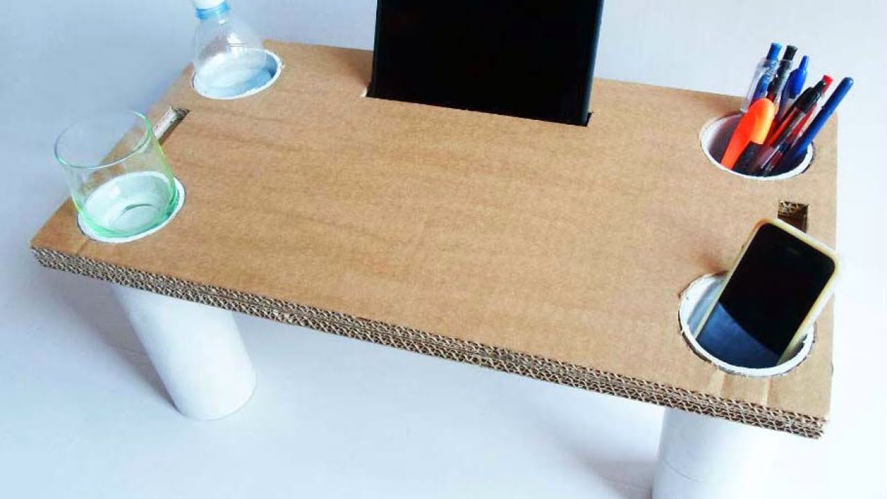 How To Make a Multipurpose Cardboard Bed Table  DIY Home