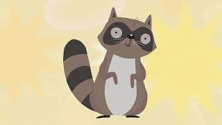 ЕНОТ - Детский мультфильм песня про животных - Nursery rhymes for kids Racoon