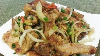 (hd) Recipe: Pan-fried Pork Chop With Spicy Salt 椒鹽豬扒