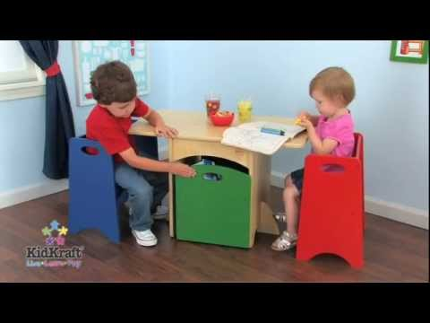 KidKraft Table With Primary Benches Set 26161 Space conscious