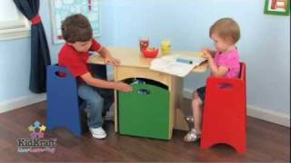 Kidkraft Table With Primary Benches Set 26161- Space-conscious Kids Furniture