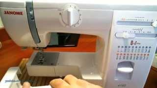 видео швейная машинка janome
