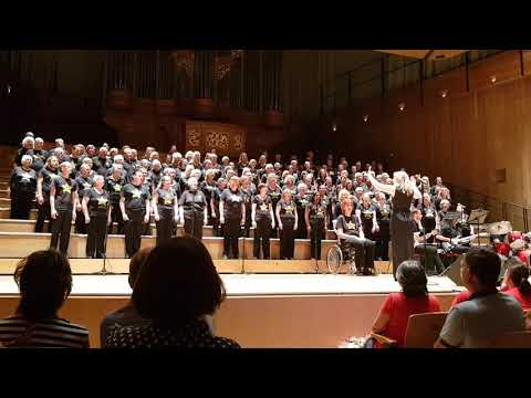 Rock Choir, at The Bramall in Birmingham 15/07/2018 with live pianist. Hallelujah