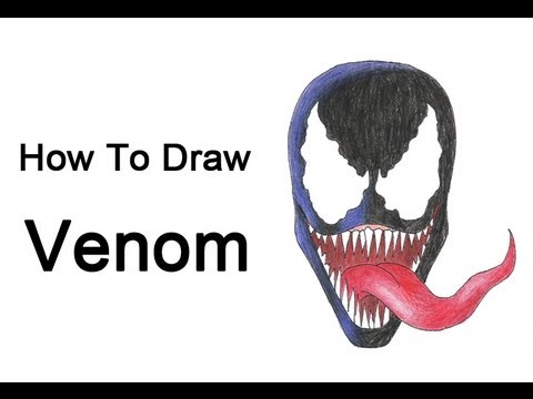 How To Draw Venom Spider Man Youtube