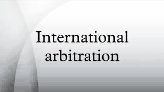 an overview of international commercial arbitration International commercial arbitration is a means of resolving disputes arising under international commercial contracts it is used as an alternative to litigation and is controlled primarily by the terms previously agreed upon by the contracting parties, rather than by national legislation or procedural rules.