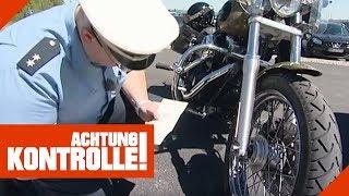 Illegales Tuning bei Harley-Davidson - Ausreden bei der Polizei! | Achtung Kontrolle | Kabel Eins