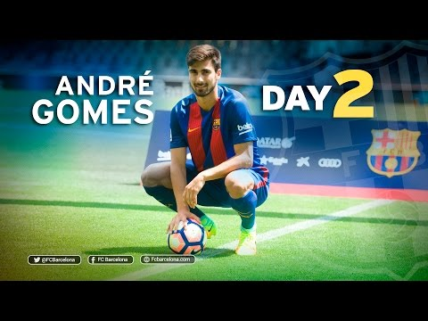 André Gomes' second day at FC Barcelona in 100 seconds
