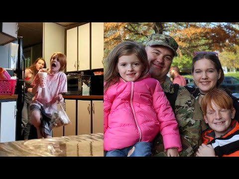 Lance Houston - Soldier Deployed for Nearly a Year Surprises Family at Home