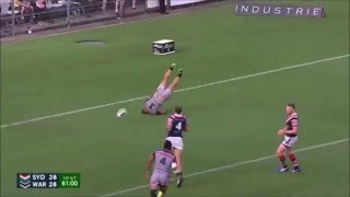 Tuivasa-Sheck golden point try against Roosters (Warriors vs Roosters 2016)