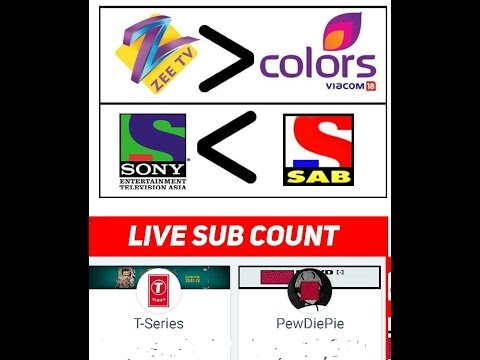 Subscribers competition!! Sony SETIndia and ZEE TV. Also PewDiePie VS TSeries