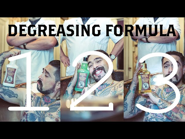 REUZEL® Degrease Formula: fastest way to degrease your hair