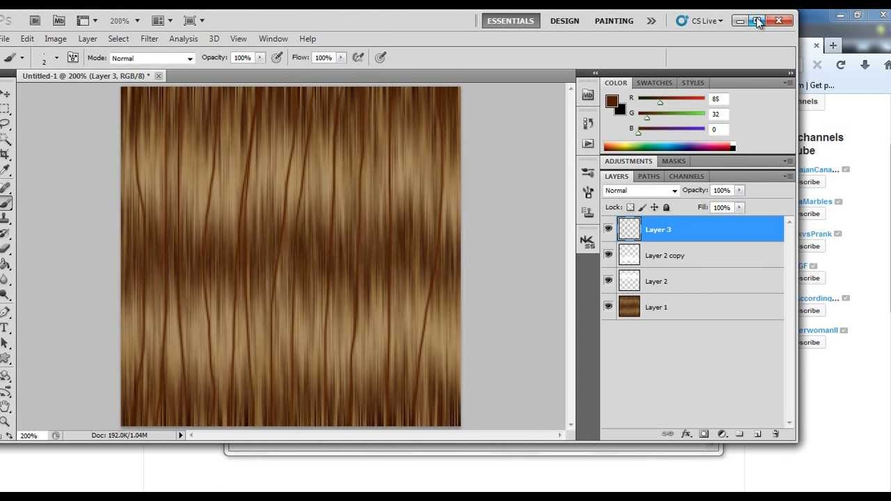 Adobe Photoshop - Basic Hair Texture Tutorial For IMVU, Second Life, The  Sims & More