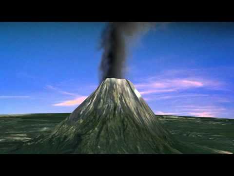 Volcano simulation - YouTube