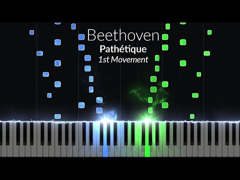 Pathetique 1st Movement - Opus 13 No. 8 [Piano Tutorial] (Synthesia)