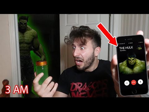 (HULK POTION?) CALLING THE HULK ON FACETIME AT 3 AM | WE DRANK A GREEN POTION & GOT SUPER POWERS!