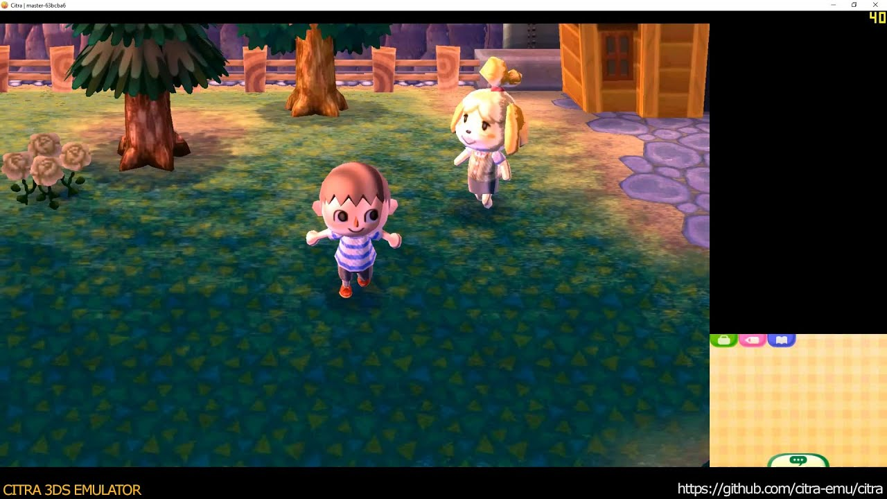 Citra 3DS Emulator - Animal Crossing: New Leaf ingame 1080p