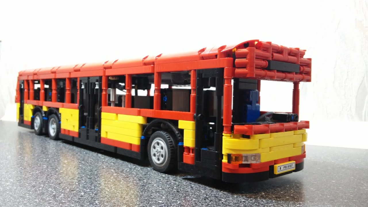 lego technic motorized city bus youtube. Black Bedroom Furniture Sets. Home Design Ideas