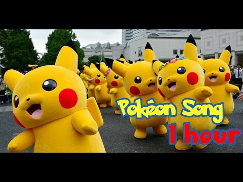 Pokemon Pikachu Song 1 Hour ♫ Nursery rhymes songs for kids, Song for babies