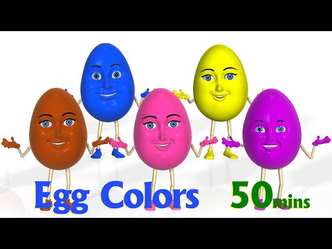 Thumbnail: Surprise Eggs Color Songs | Learn colours | 3D Egg colors Nursery Rhymes & Songs for children