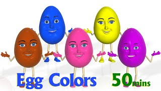 surprise eggs color songs   learn colours   3d egg colors nursery rhymes songs for children