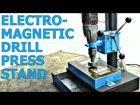 ELECTROMAGNETIC Drill Press Stand [PLANS]
