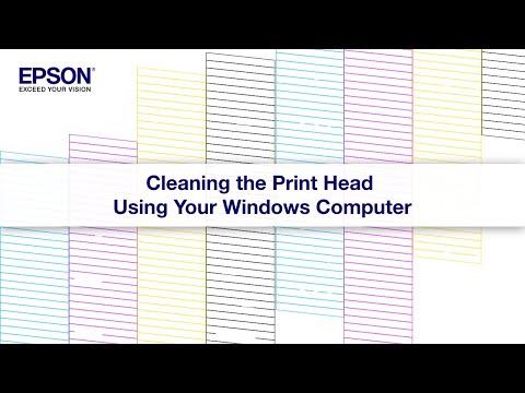 Epson EcoTank   Cleaning the Print Head via Windows