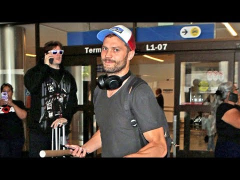 Jamie Dornan Arrives In L.A. Amid Dakota Johnson Cheating Rumors