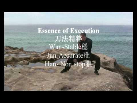 Choy Lee Fut - BroadSword Training - Basic Chinese Weapons 蔡李佛單力基本功練習片段
