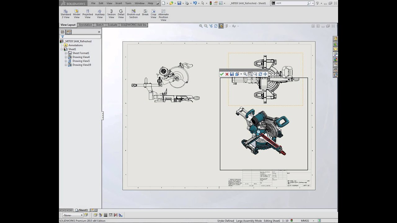 3d Drawing View Tool In Solidworks Youtube