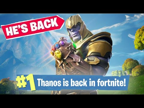 THANOS IS BACK IN FORTNITE!
