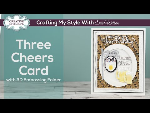 How To Emboss Gilded Card I Crafting My Style With Sue Wilson