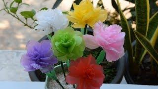 Cara Mudah Membuat Bunga Mawar Bahan Dari Kantong Plastik Kresek 4e83f541ae