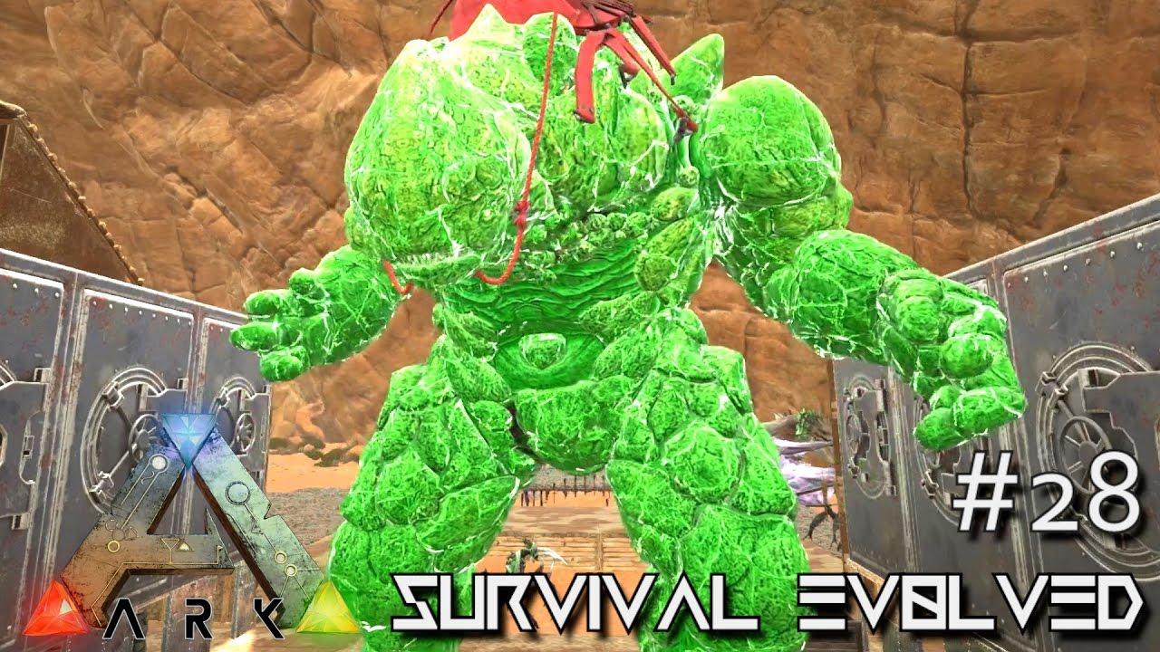 Ark Scorched Earth Hulk Rock Elemental Tame E28 Ark