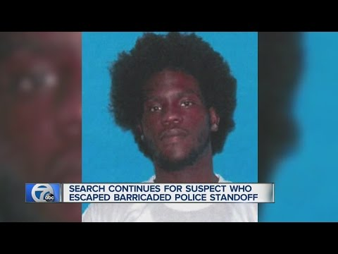 Search for suspect who escaped barricaded situation