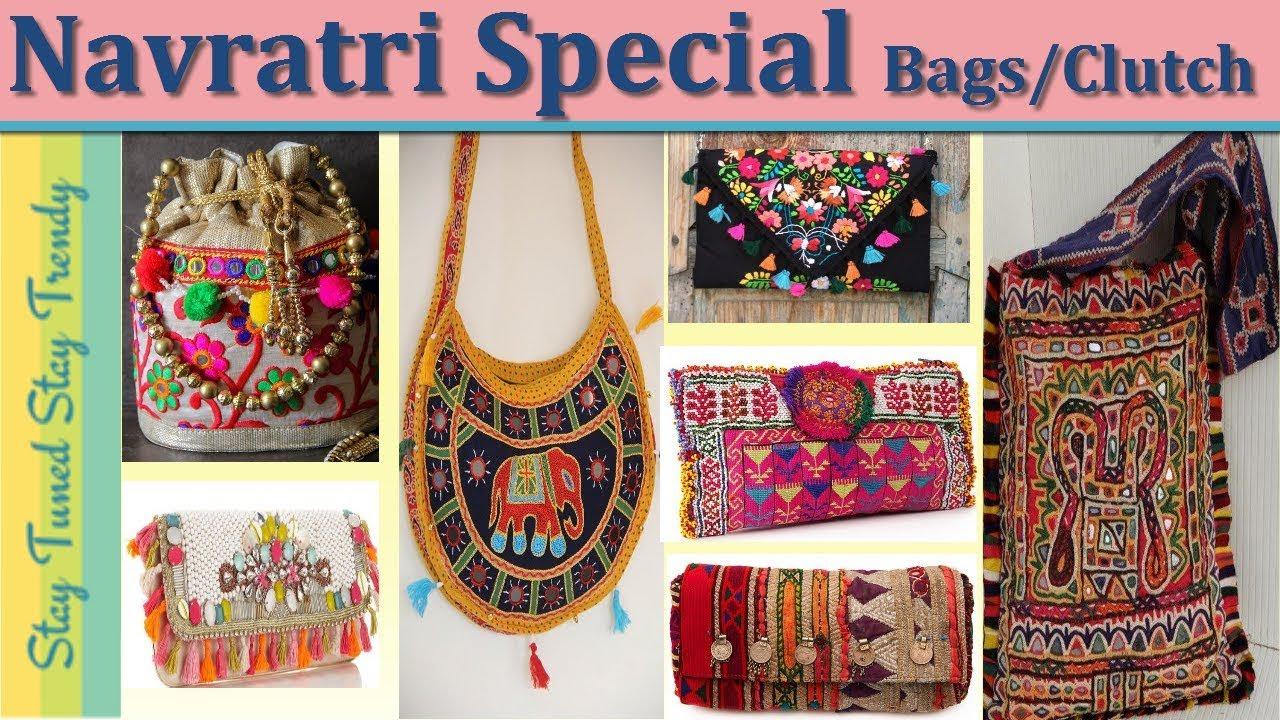 b425f1d42a5 #Navratrispecial |Navratri Accessories |(Kutch) Gujarat Work Hand/Potli Bag  | Clutch |Purse |Design