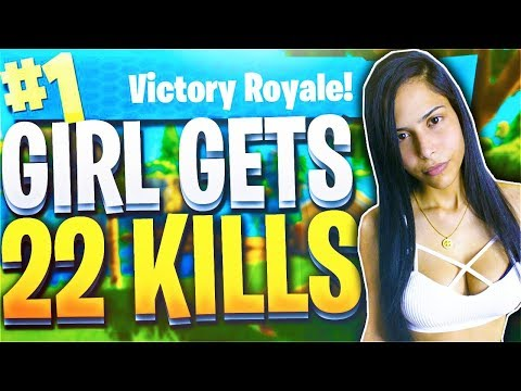 THE BEST FEMALE FORTNITE PLAYER!?! (Fortnite Battle Royale)