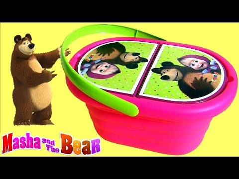 Thumbnail: Play Doh Masha and the Bear Picnic Basket Baby Toy Маша и Медведь Сюрприз игрушки Panier