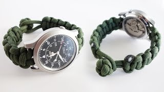 How to Make a Paracord Watch Band Tutorial | Knot and Loop Watch Band Without Buckle