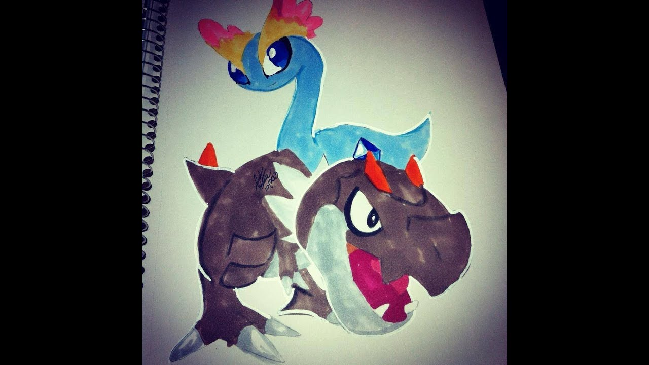 Copic Marker Speed Color Pokmon X And Y Tyrunt Amarua With Commentary