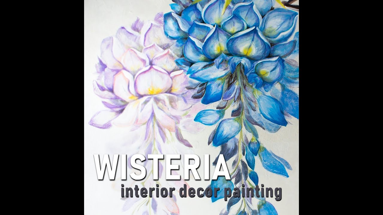 wisteria decor painting anakleo design interior