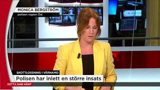 """Flera skadade i """"grovt våldsbrott"""" i Värnamo  - Nyheterna (TV4)"""