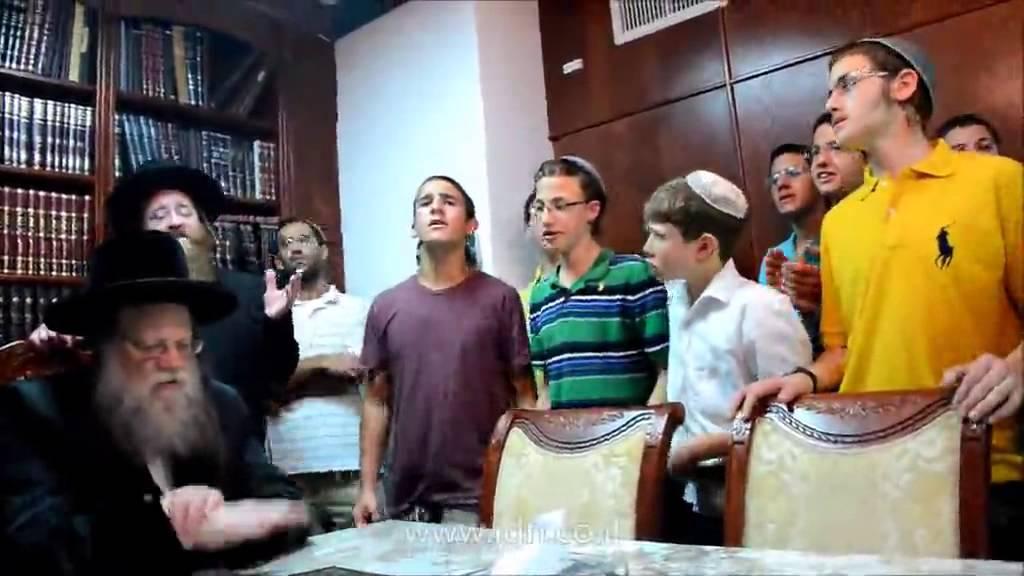 Modzitz Rebbe Sings With Friends of The 3 Murdered Teens On First Yahrtzeit