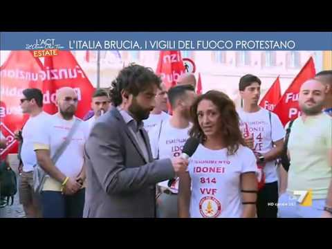 L'Italia brucia, i Vigili del Fuoco protestano